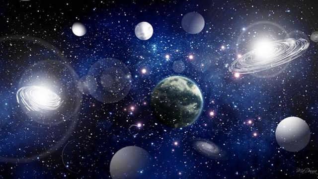 星球为什么能浮在宇宙中?