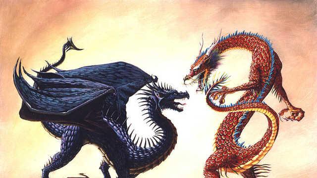 中国龙和西方龙打架到底谁实力更强