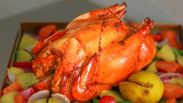 圣诞节快到了,做份香喷喷的小烤鸡