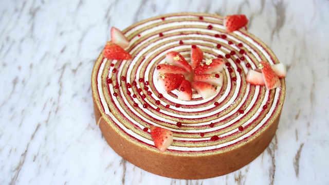 草莓蛋糕卷,思路比配方更重要