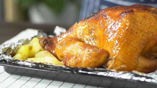 手把手教你做地道圣诞烤鸡!