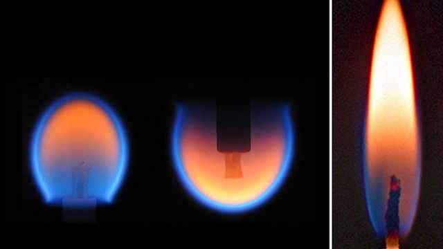 不可思议!太空中火焰是这样燃烧的