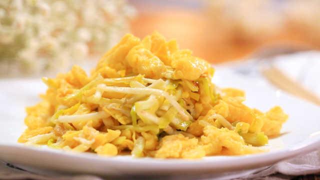 冬季韭黄这么做,满口鲜嫩又多汁!