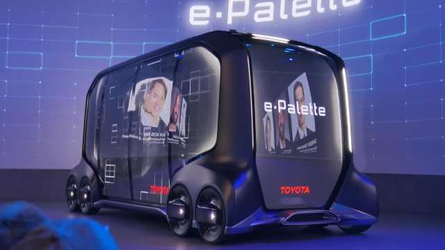 丰田发布了e-Palette出行平台汽车