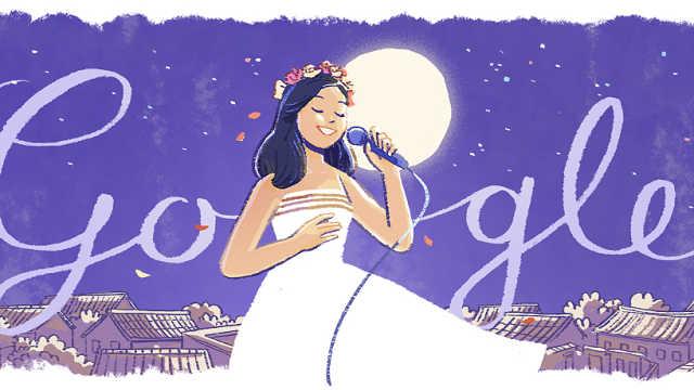 GoogleDoodle纪念邓丽君65岁诞辰