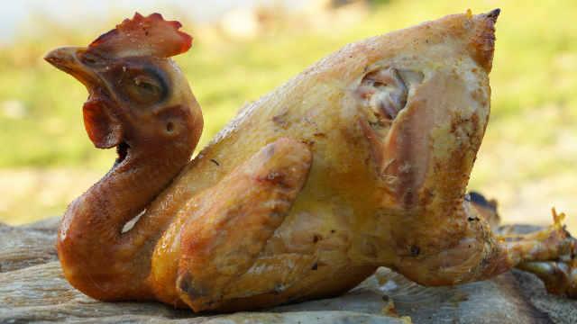 正宗客家盐焗鸡,皮酥肉嫩满口留香