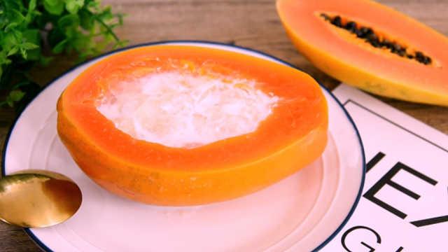 养颜木瓜盅,一整碗胶原蛋白