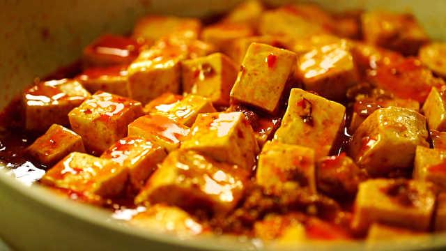 鲜香麻辣的麻婆豆腐,好吃到流口水