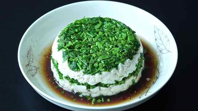 春天的礼物,香椿拌豆腐