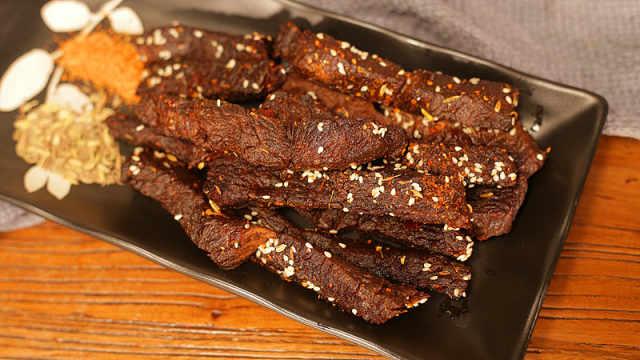 免烤箱香辣风味牛肉干,超级入味