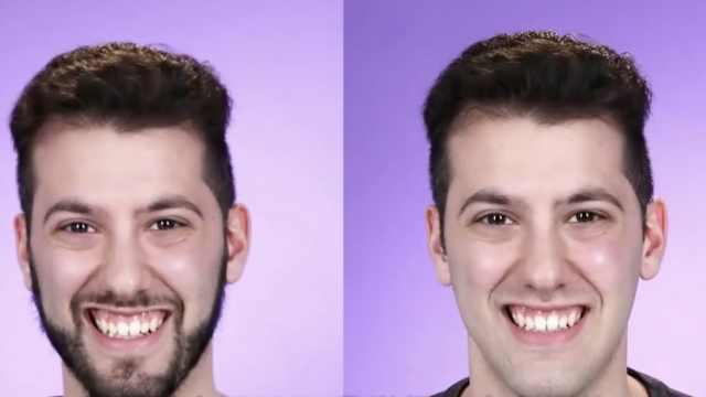 大胡子老外剃掉胡子,秒变16岁少年