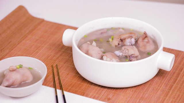 这样煲猪脚汤,汤汁清甜鲜美