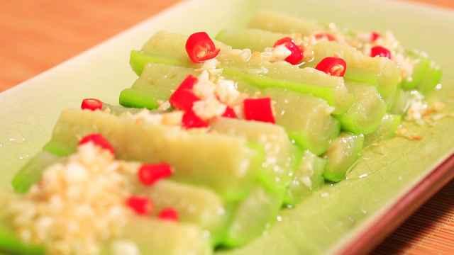 鲜翠丝瓜这么吃,爽口清热又去火!