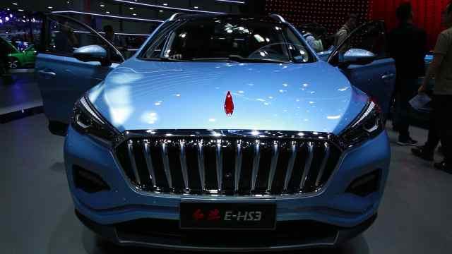 红旗首款纯电动车型E-HS3实车曝光