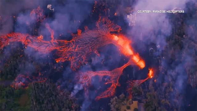夏威夷基拉韦厄火山再次喷发