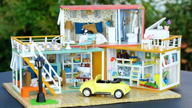 DIY小型娃娃屋集装箱房