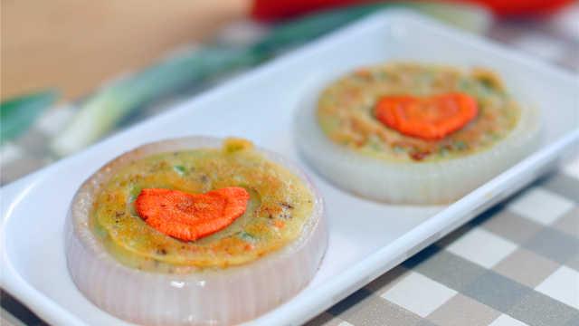 蔬菜洋葱饼,简单易学,美味可口