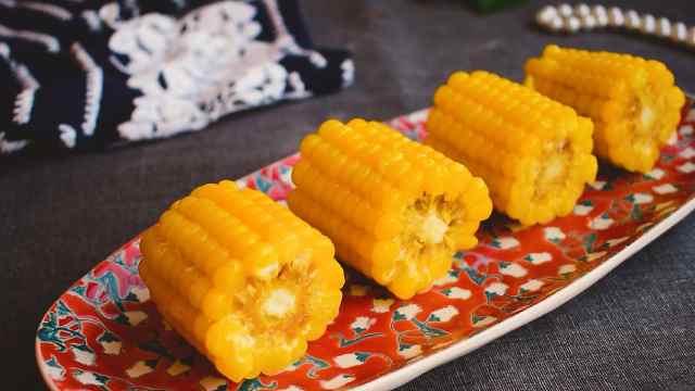 教你不用水做煮玉米,软糯又香甜!