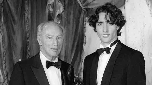 加拿大总理父子颜值比拼