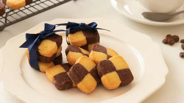 不用模具简单又美味的格子饼干