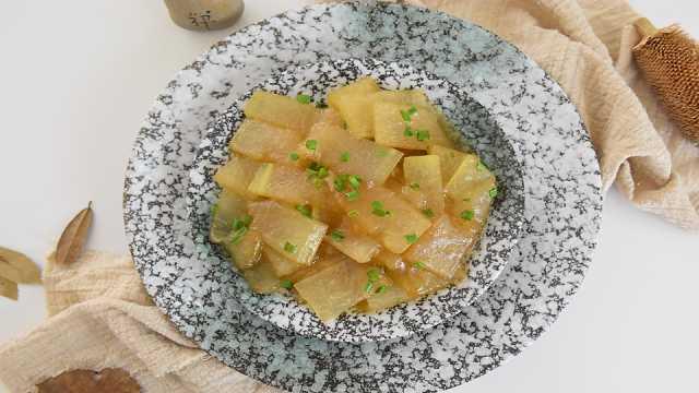 蚝油焖冬瓜,做法简单却美味