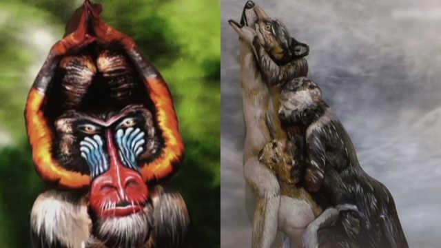 栩栩如生!艺术家用人体模仿动物