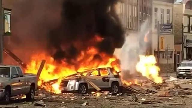 美国威斯康星天然气泄漏发生爆炸