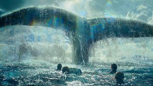船队出海遇到超大鲸鱼瞬间全军覆没