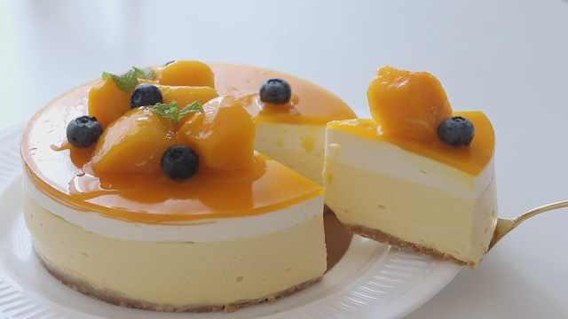 不用烘烤的芒果芝士蛋糕