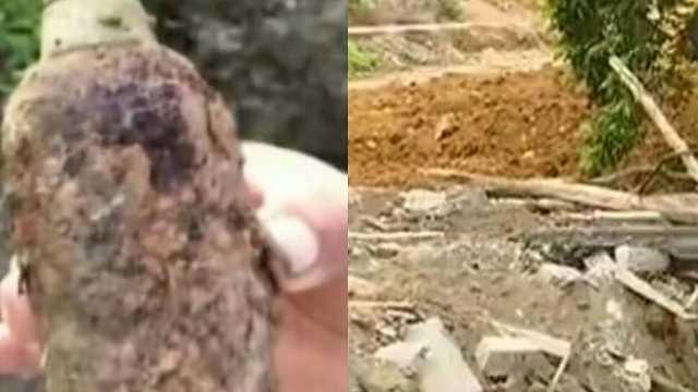南宁一工地挖出炸弹:抗日战争遗物