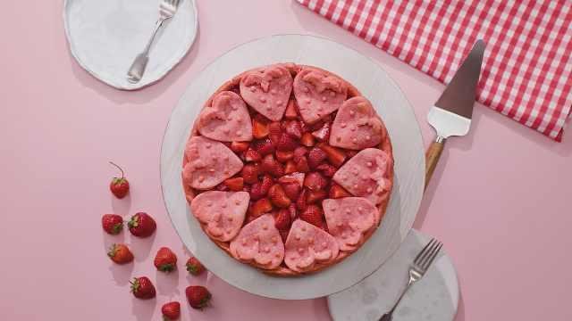 颜值高又好吃的草莓蛋挞