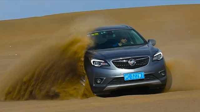 别克昂科威极热测试挑战,沙漠开车