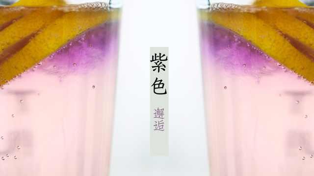 紫色邂逅:柠檬气泡饮