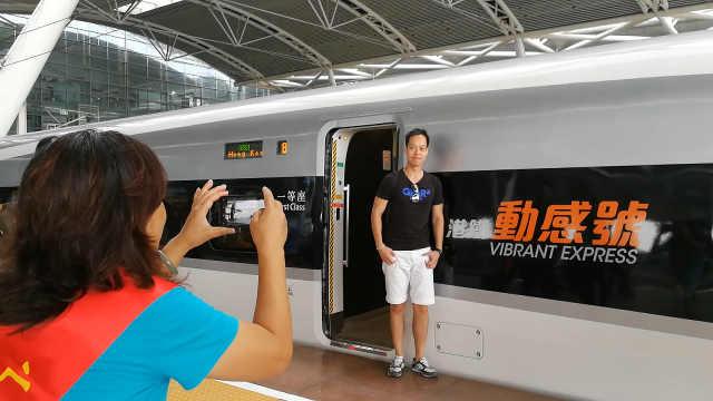 广深港高铁开通第一天!