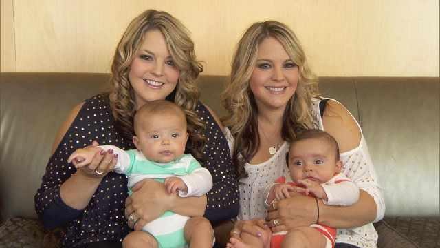 缘分!双胞胎姐妹同一天同医院产子
