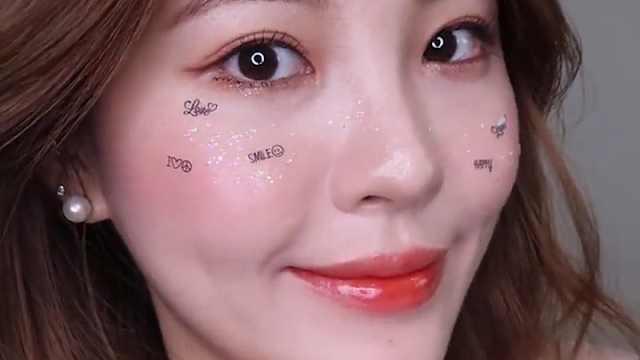 韩国流行的闪亮妆