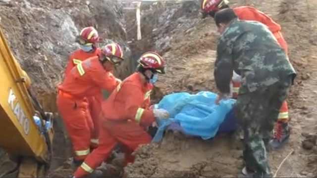 某工地突发塌方,一名工人不幸遇难
