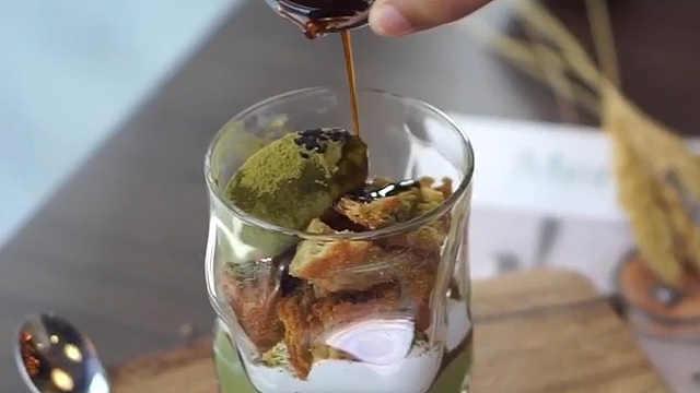 各种风味独特抹茶饮品