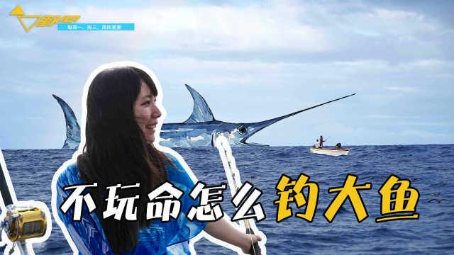 海钓体验,小姐姐大战800斤剑鱼