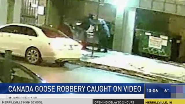 冷!抢劫犯当街扒衣,只要加拿大鹅