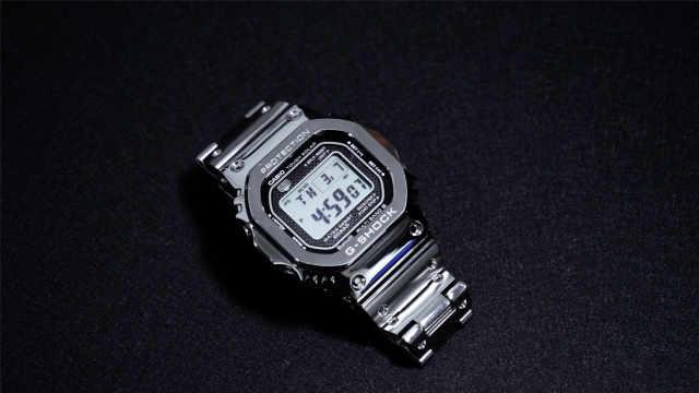 G-SHOCK 5000系金属银方块体验
