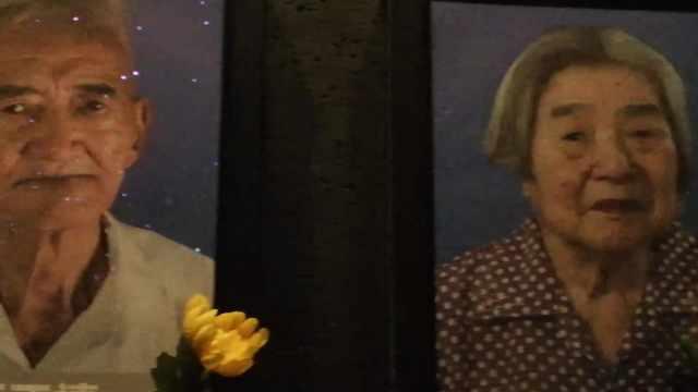 南京大屠杀幸存者照片墙灯又熄两盏