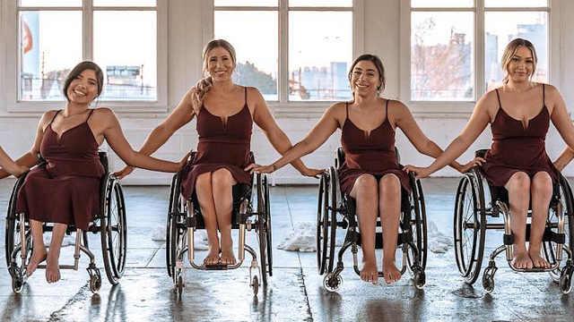 轮椅上的女性舞者:舞蹈用的是心