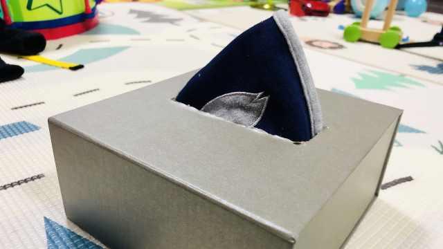 小宝宝口水巾收纳盒的制作方法