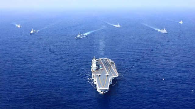人民海军水面舰艇部队超燃现身