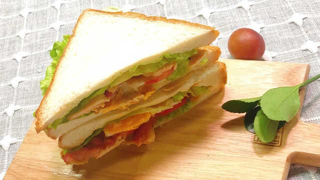 能量早餐尽在美味三明治,超简单!