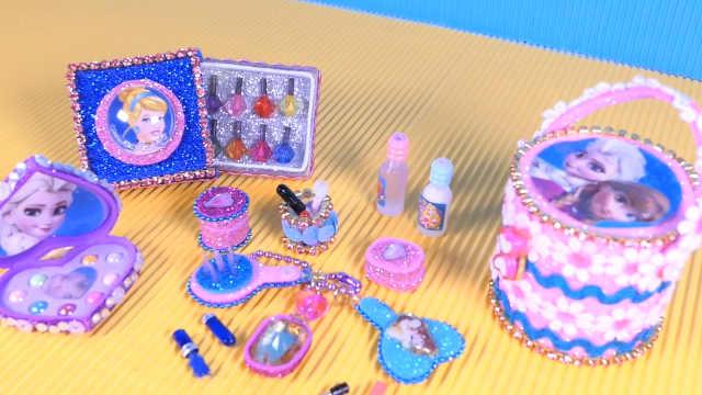 DIY一套芭比娃娃的化妆品