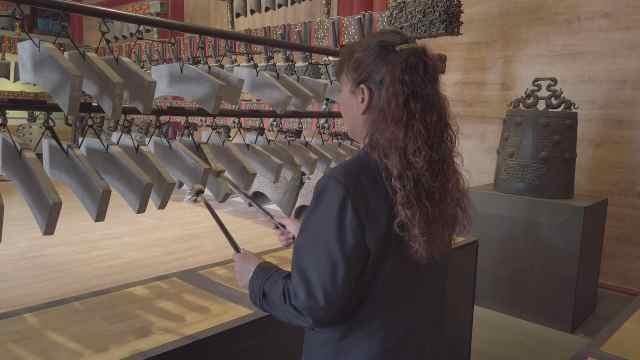 大钟寺2500年前乐器演奏《东方红》