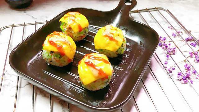 简单又美味,尽在蔬菜芝士饭团!
