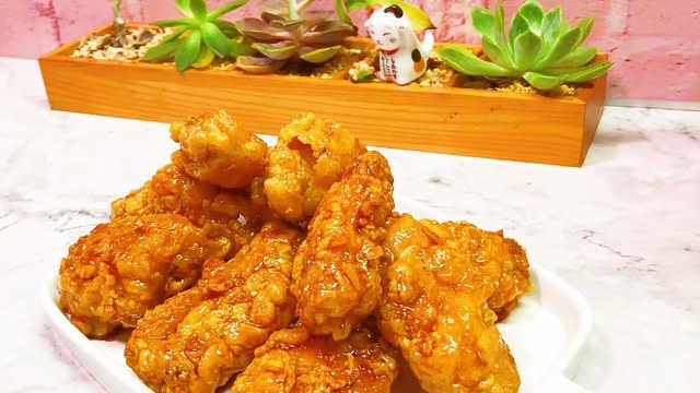 蜂蜜黄油炸鸡,鲜嫩多汁,满口咸香